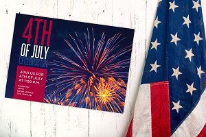 4th of July Fireworks Party Invite