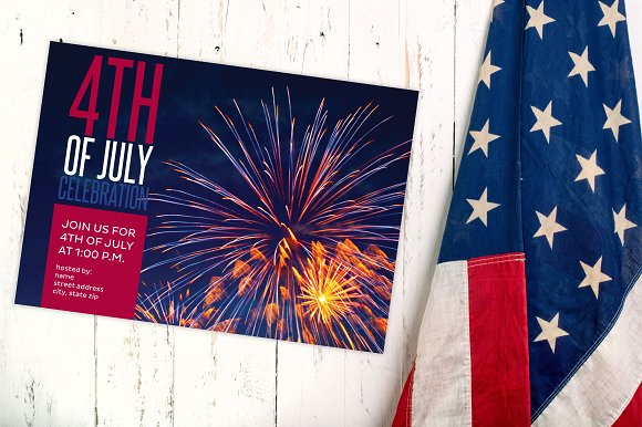 4th of july fireworks party invite invitation templates creative