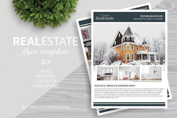real estate flyer template no 9 flyer templates creative market