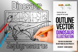 Dinosaur Art Line - Zephyrosaurus