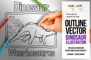 Dinosaur Art Line - Wuerhosaurus
