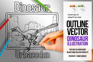 Dinosaur Art Line - Urbacodon