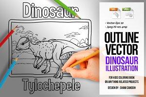 Dinosaur Art Line - Tylochepele