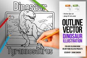Dinosaur Art Line - Tyrannosaurus