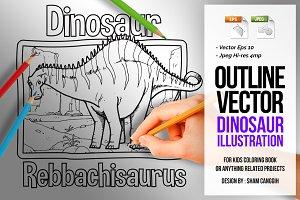 Dinosaur Art Line - Rebbachisaurus