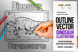 Dinosaur Art Line - Ouranosaurus