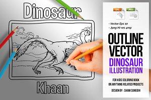 Dinosaur Art Line - khaan