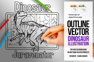 Dinosaur Art Line - Juravenator