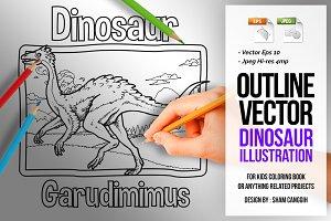 Dinosaur Art Line - Garudimimus