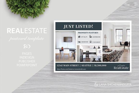 Real Estate Postcard Template No Card Templates Creative Market - Real estate postcard templates