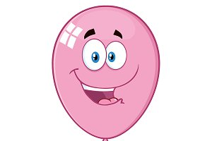 Happy Pink Balloon