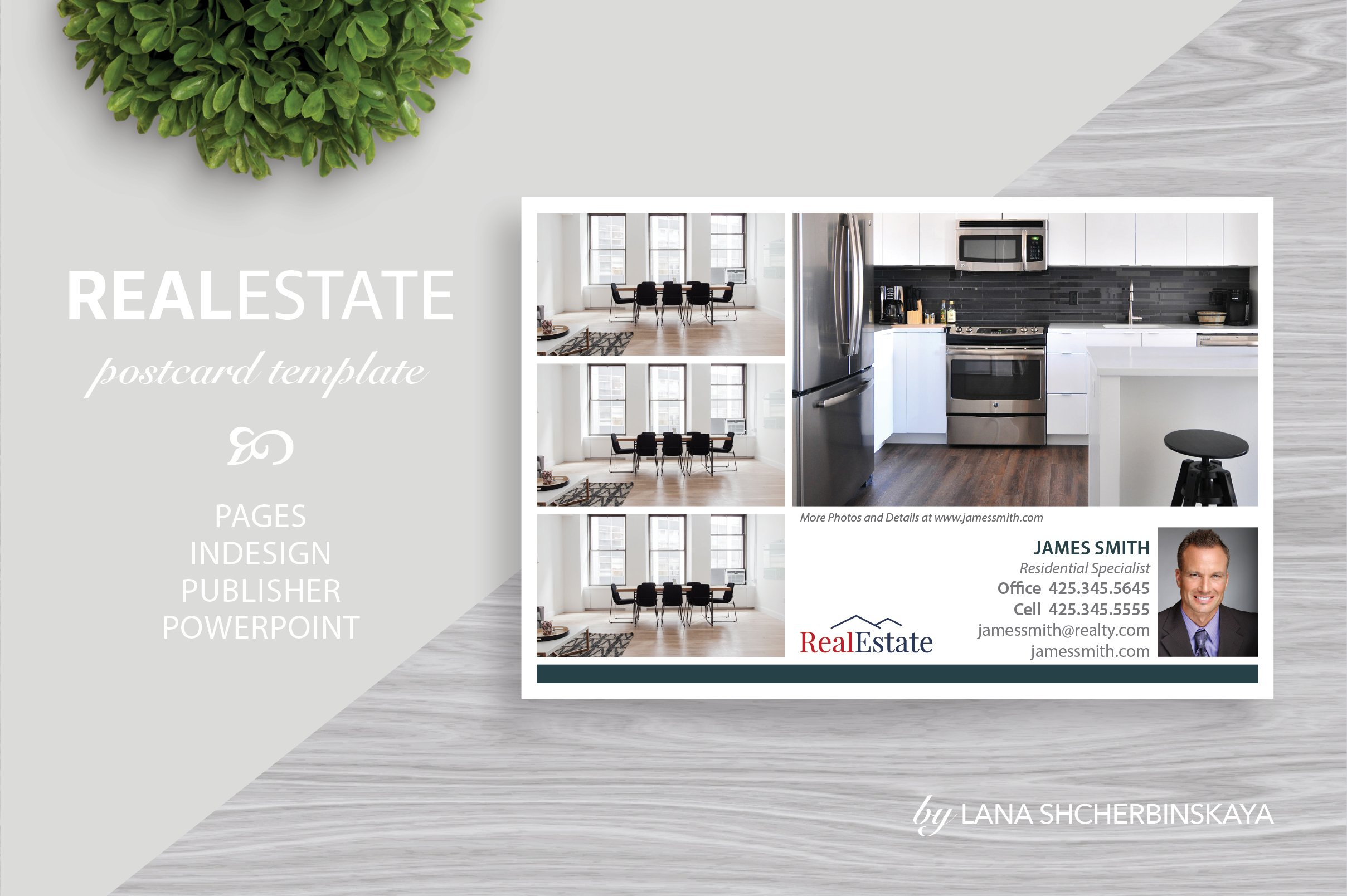Real Estate Postcard Template No.7 ~ Card Templates ~ Creative Market