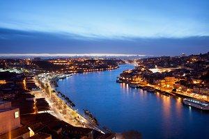 Douro River at Twilight in Porto