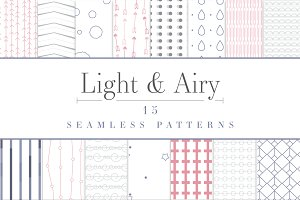 Light & Airy 15 Seamless Patterns