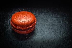 Sweet red macaroon.
