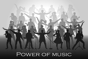 Vector power of music concept