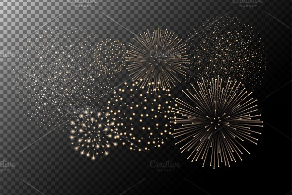 Vector Fireworks Isolated