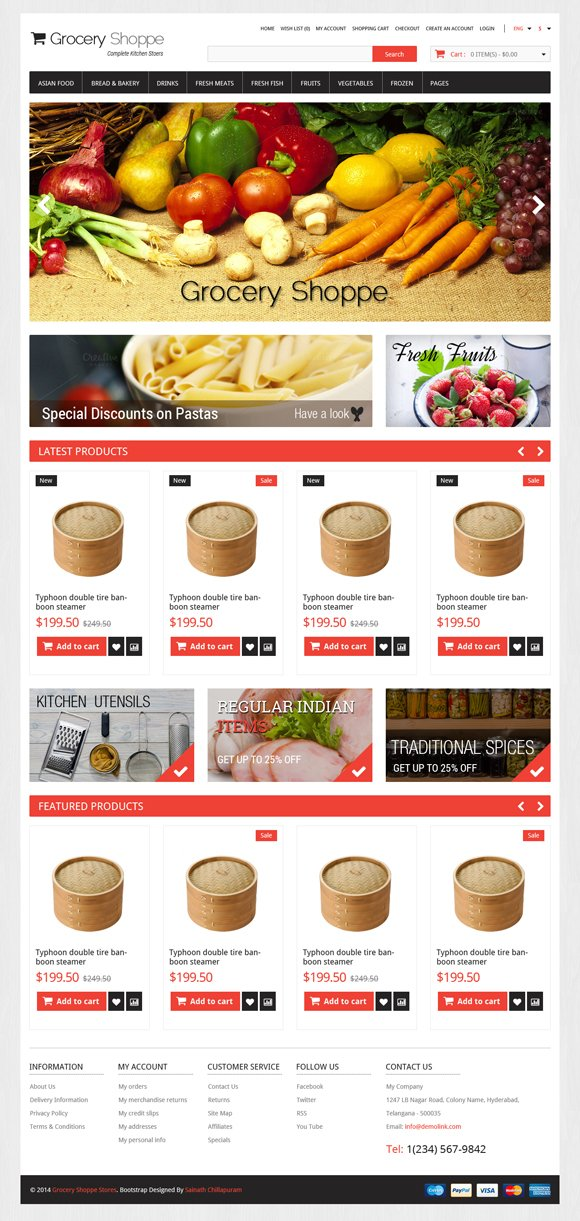 GroceryJewelry ECommerce Bootstrap Bootstrap Themes Creative – Grocery Templates