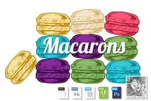 illustration of  macarons