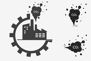 CO2 emissions icons