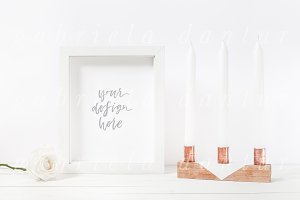 Copper & Rose White Frame Mockup