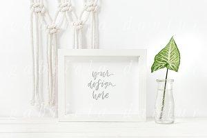 Macrame & Plant Syled Frame Mockup