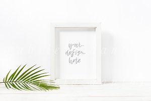 Tropical Styled Stock Frame Mockup