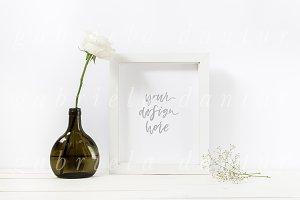 Styled Stock Frame Mockup Rose