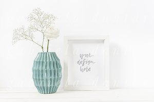 Styled Stock Frame Mockup Floral