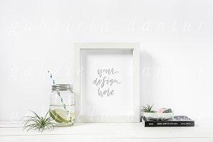 Mason Jar Styled Frame Mockup