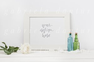 Bottles Styled Stock Frame Mockup