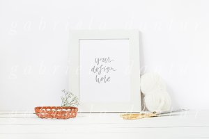 Knitting Crafts Styled Frame Mockup