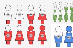 Men Versus Women Infographic