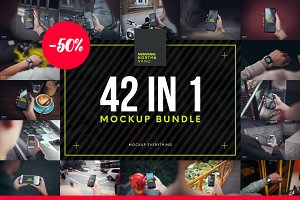 42 in 1 Mockup PSD Bundle!