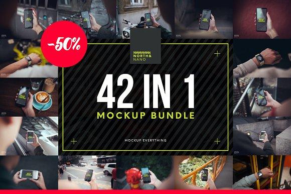 42 in 1 Mockup PSD Bundle!