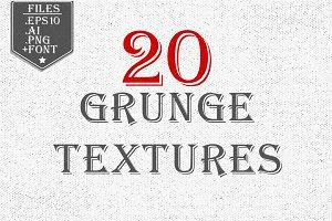 20 Grunge Textures Bundle