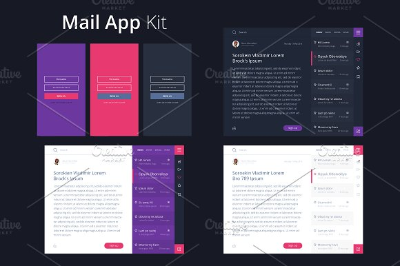 Mail App Kit For Tablet