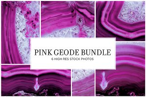 Pink Geode Stock Bundle
