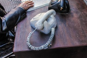 Vintage Telephone Sculpture