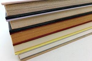 piled elegant books