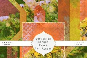 Sunwashed Sedum Art Paper Pack