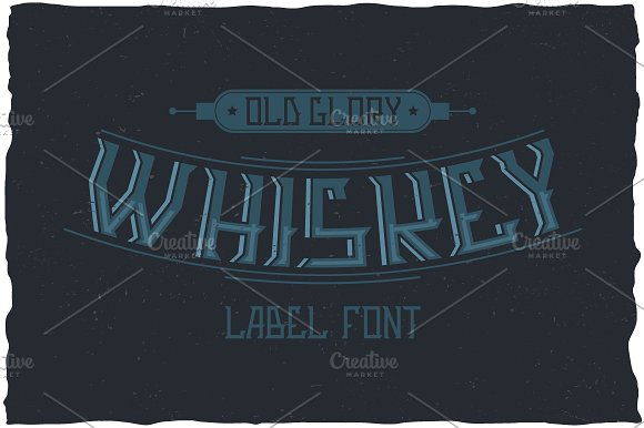 Whiskey Glory Vintage Label Typeface