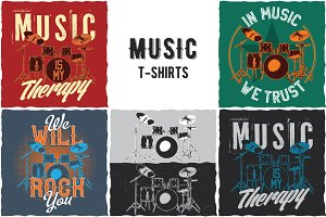 Music Collection of T-shirt Designs