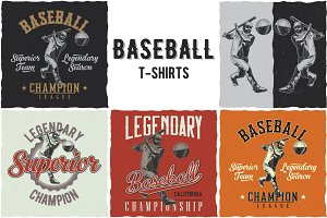 BaseBall T-shirts Designs