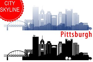 Pittsburgh vector skyline
