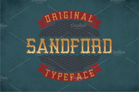 Sandford Vintage Label Typeface