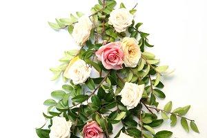 Girly christmas tree flower mockup