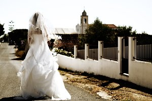 The walking bride