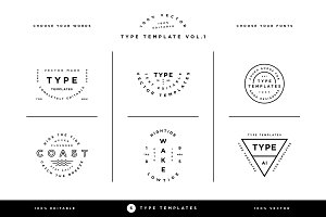 Type Template Vol. 1
