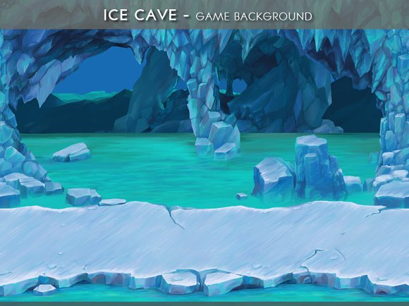Ice Cave Game Background